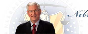 Nebraska State Treasurer Don Stendberg header home button background image - color