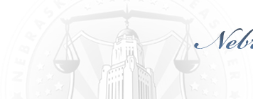 Nebraska State Treasurer header home button background image - grey
